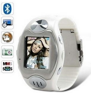 Waterproof Watch Mobile Phone W818 Watchphone Quad-Band Cell Phone Stainless Steel Camera MP4 FM