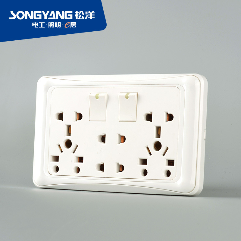 Flame Retardant PC Plastic D/Universal Switch Socket