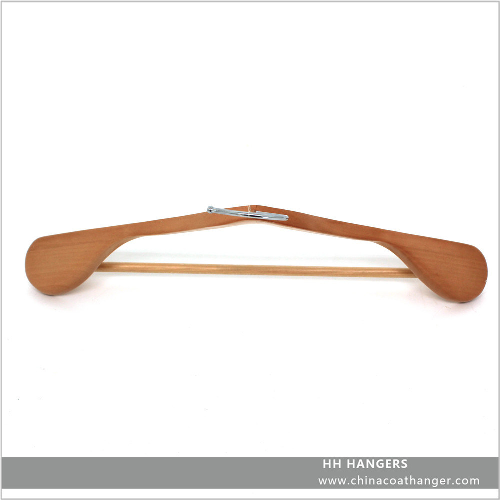 Branded Black Custom Wooden Suit Hangers with Nothes Wooden Clothes Hanger Hangers for Jeans