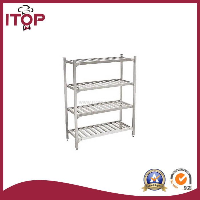 Stainless Steel 4 Tiers Storage Rack Shelf (SR-R05)