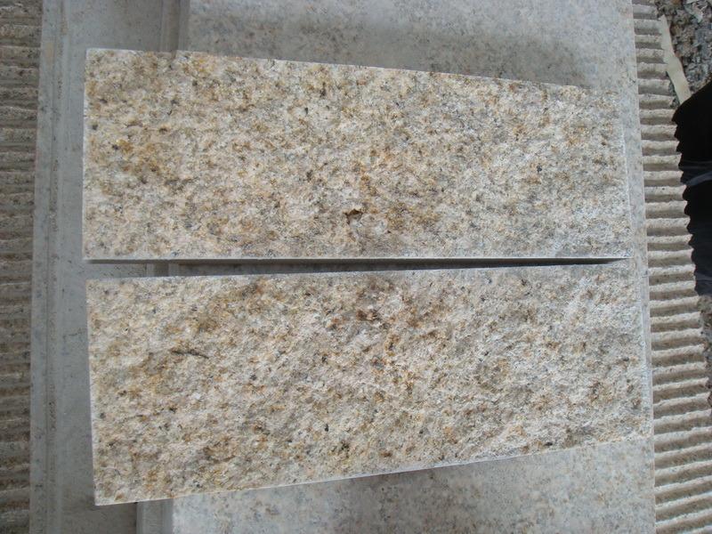 Natural granito amarillo loseta para pavimentaci n ly 243 for Piedra de granito natural