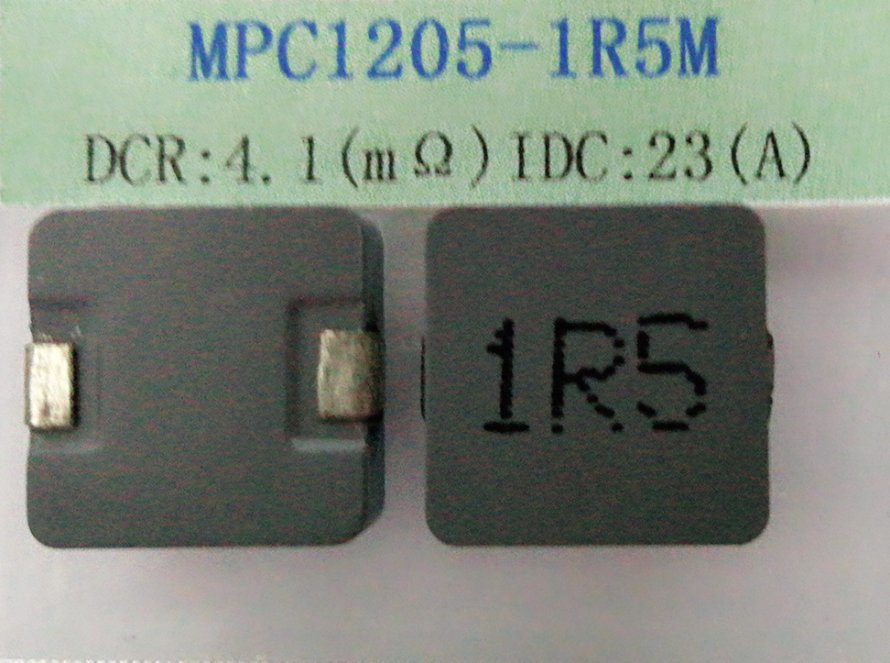 Power Inductor, 1.5uh, Temperature Rise Current=23A, Size: 13.8*12.5*5.0mm, DC/DC Converters
