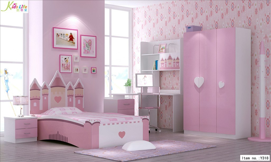 Girls Pink Bedroom Furniture China Pink Castle Kids Bedroom Furniture Sets  Y318 China
