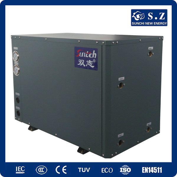 Cold -25c Winter Floor Heating + 55c Hot Water 25kw Underground Glycol Circle Loop DC Inverter Geothermal Heat Pump Package Unit