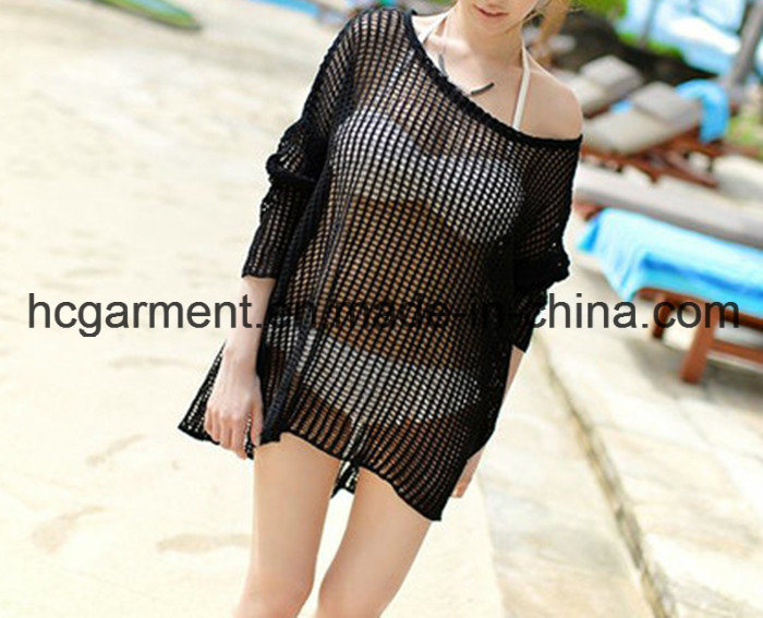 Black Sexy Swimming Clothes Cover up Clothes for Women/Lady