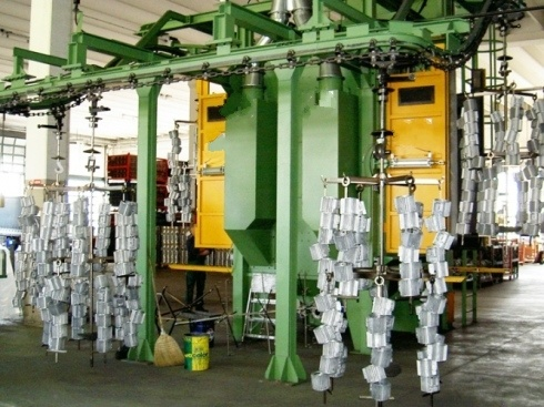 Double Door Spinning Hang Shot Blast Machine Series on Abrator Blast Parts