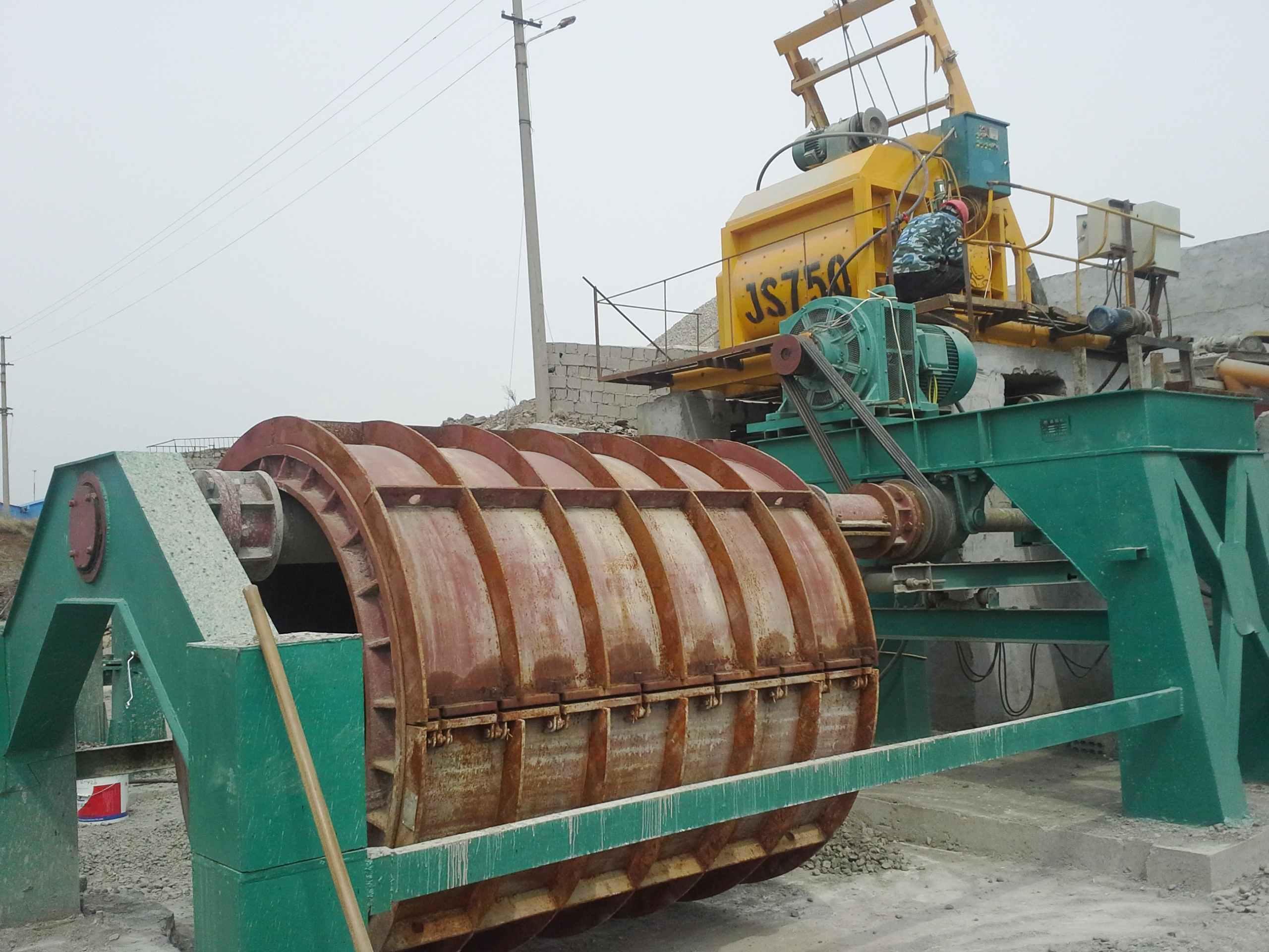 Concrete Culvert Drain Pipe Making Machine