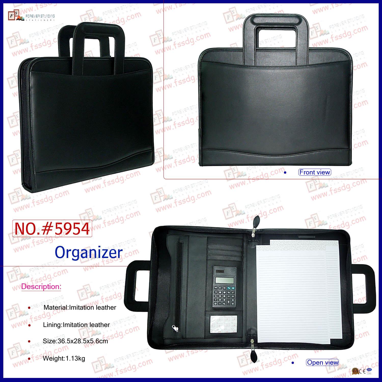 PU Leather Flexible Handles Portfolio (5954)