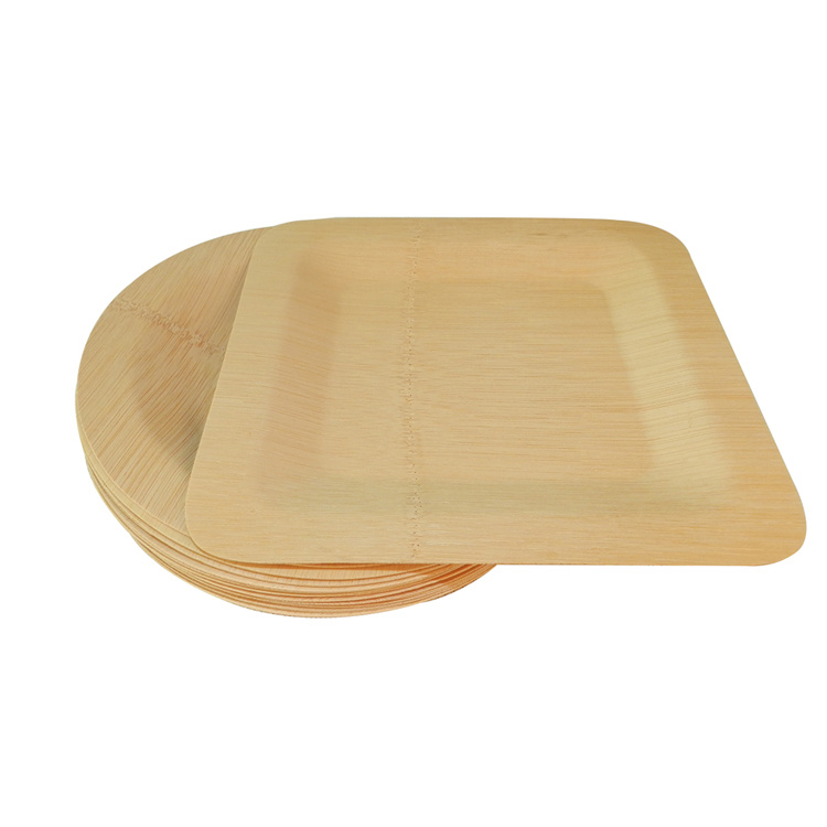 Disposable Compostable Bamboo Plate Bamboo Biodegradable Dishes