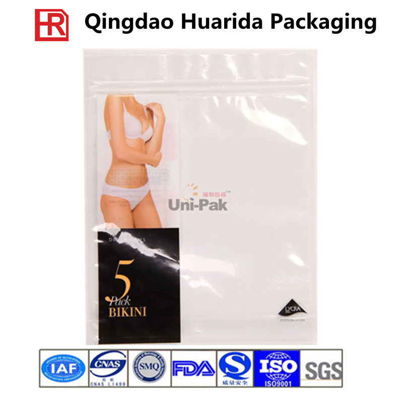 Customized Garment Plastic Packaging Bag/Underwear Pouch with Colorful Printing
