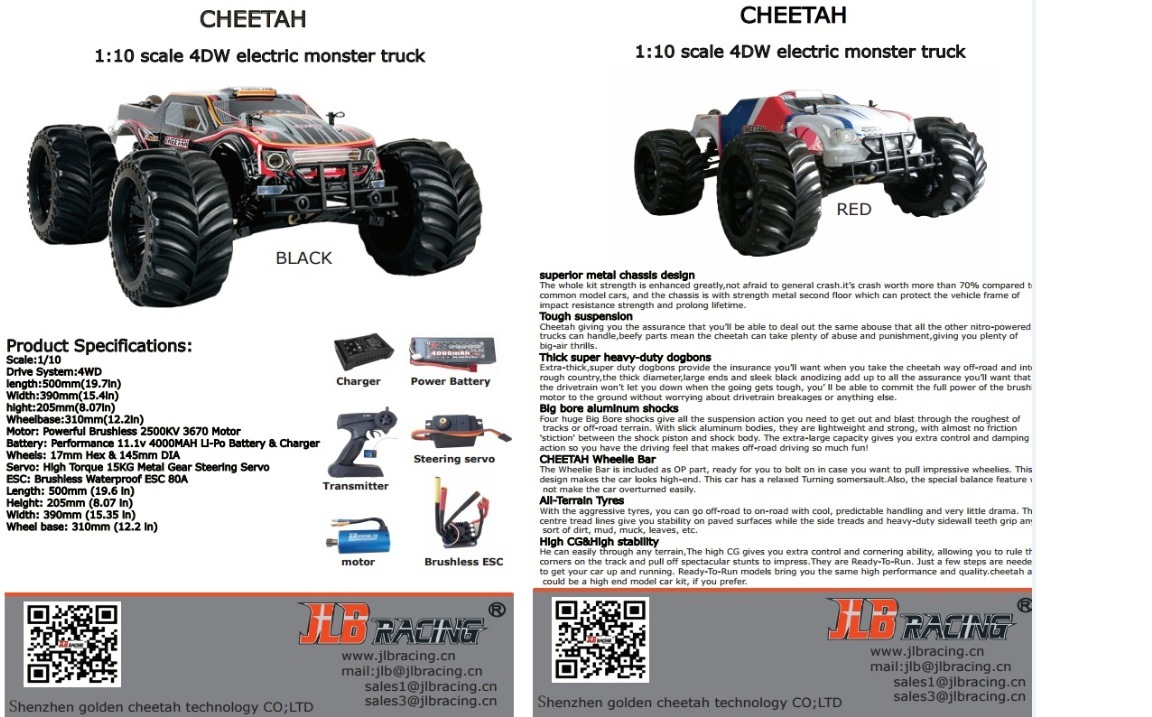 RC Hobby Man′s Electric Toy Car, Remotre Control Crazy RC Monster Truck