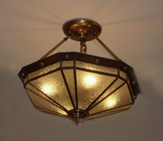 Brass Ceiling Lamp with Glass Decorative 19007 Ceiling Lighting