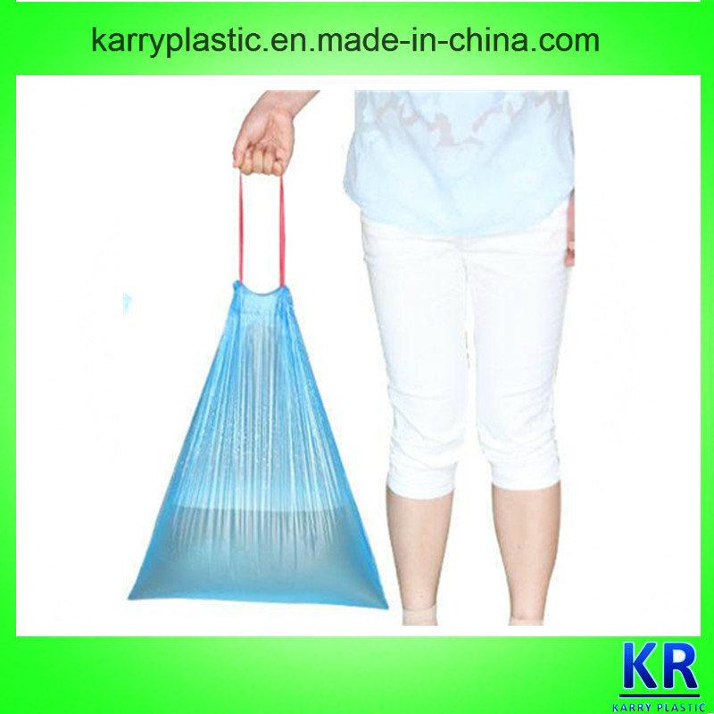 Tie Handle Heavy Duty Plastic Trash Bag with Drawtape