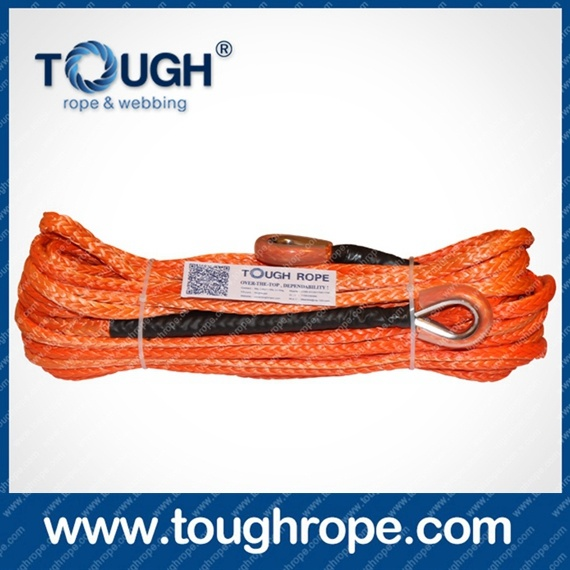 Color ATV Synthetic Winch Rope Canada Boat Winch Rope
