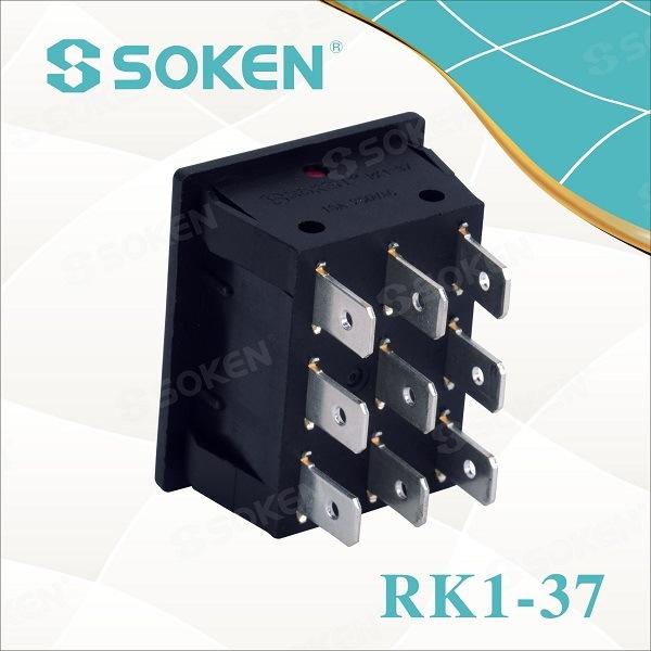 3 Gang Rocker Switch Fan Switch CQC 250V 16A T100