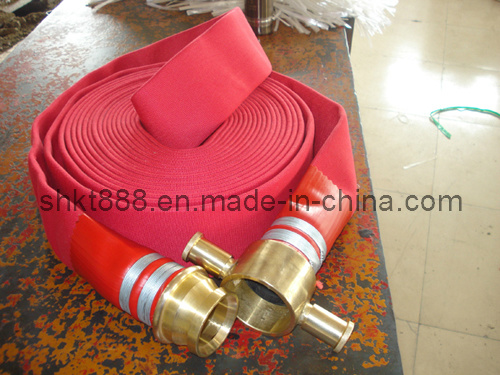 """Single Jacket 2.5"""" X 30m Fire Hose with BS Coupling"""