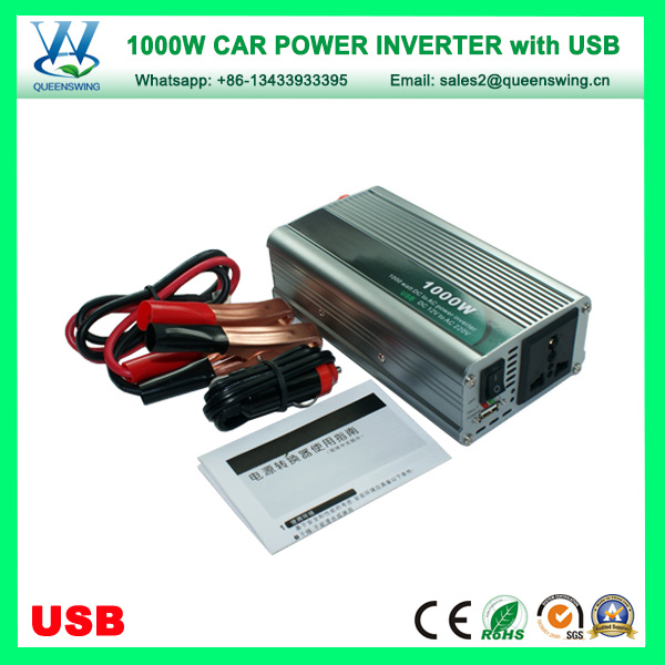 Portable 1000W Car Solar Power Inverter with USB (QW-1000MUSB)