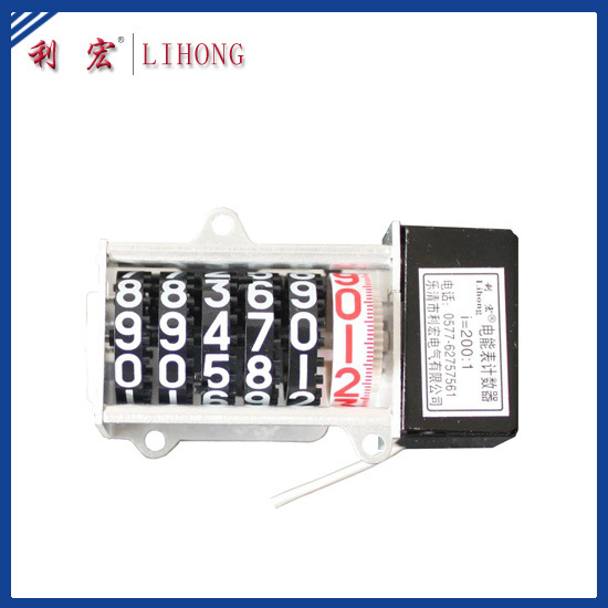 Large Wheel 5+1 Power Meter Counter, DIN-Rail Meter Counter (LHAS6-03L)