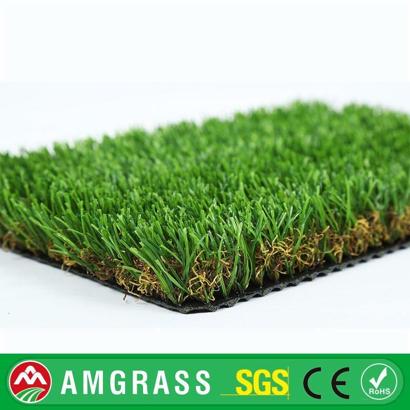 Outdoor Garden Used 35mm Height, V Shape Artificial Grass