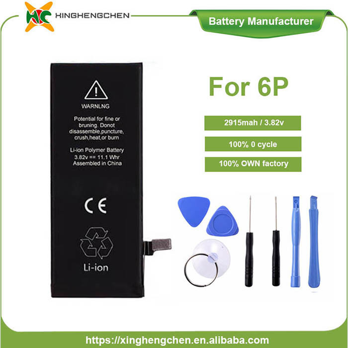2915mAh 3.8V Phone Battery for iPhone 6 Plus Mobile Battery