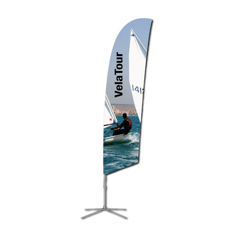 Outdoor Advertising Street Pole Flag Banner