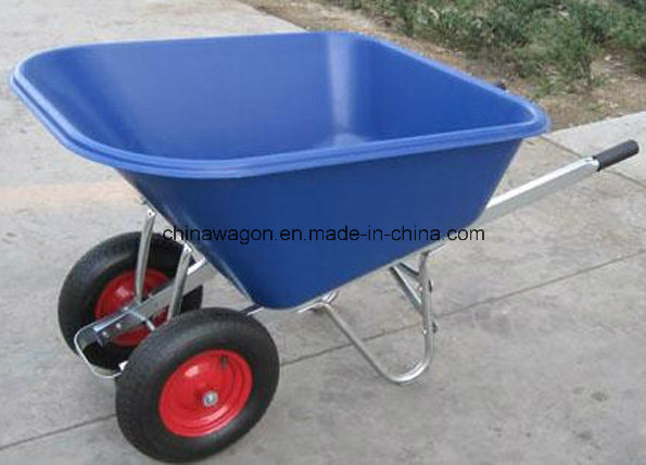 Heavy Duty Double Wheels Wheelbarrow for American Market