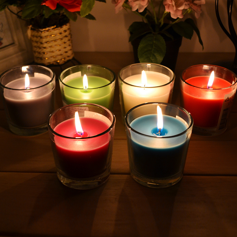 Hot Selling Paraffin Wax Glass Jar Candle