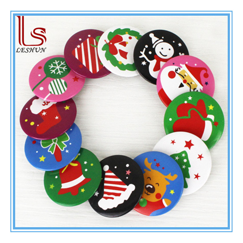 Wholesale Christmas Decorations Children Gifts Badge Tin Brooch