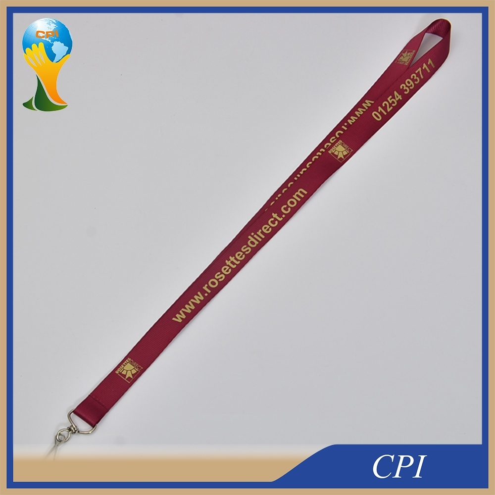 Custom Nylon Lanyard with Golden printing Logo