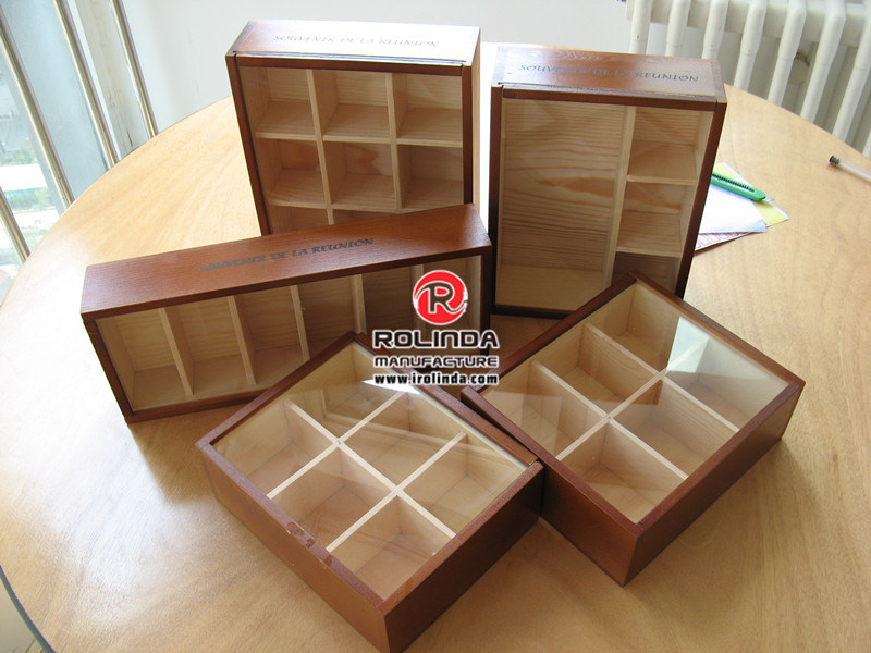 Wooden Box for Glass Cup