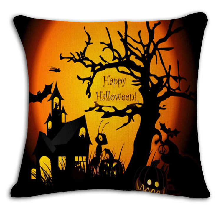 Hollween Designed Decoration Printed Pumpkin Cushions