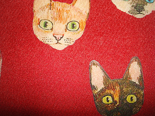 Wool Blenched Digital Print Crepe Twill Fabric