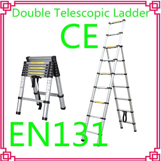 Double Aluminum Telescopic Ladder /Household Ladder
