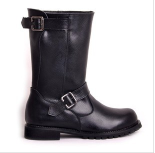 Mid high biker boots with buckle trim bk 1203 china biker boots
