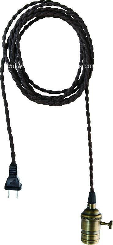 E26 Brass Lamp Holder UL Pendant Lamp Light Cord
