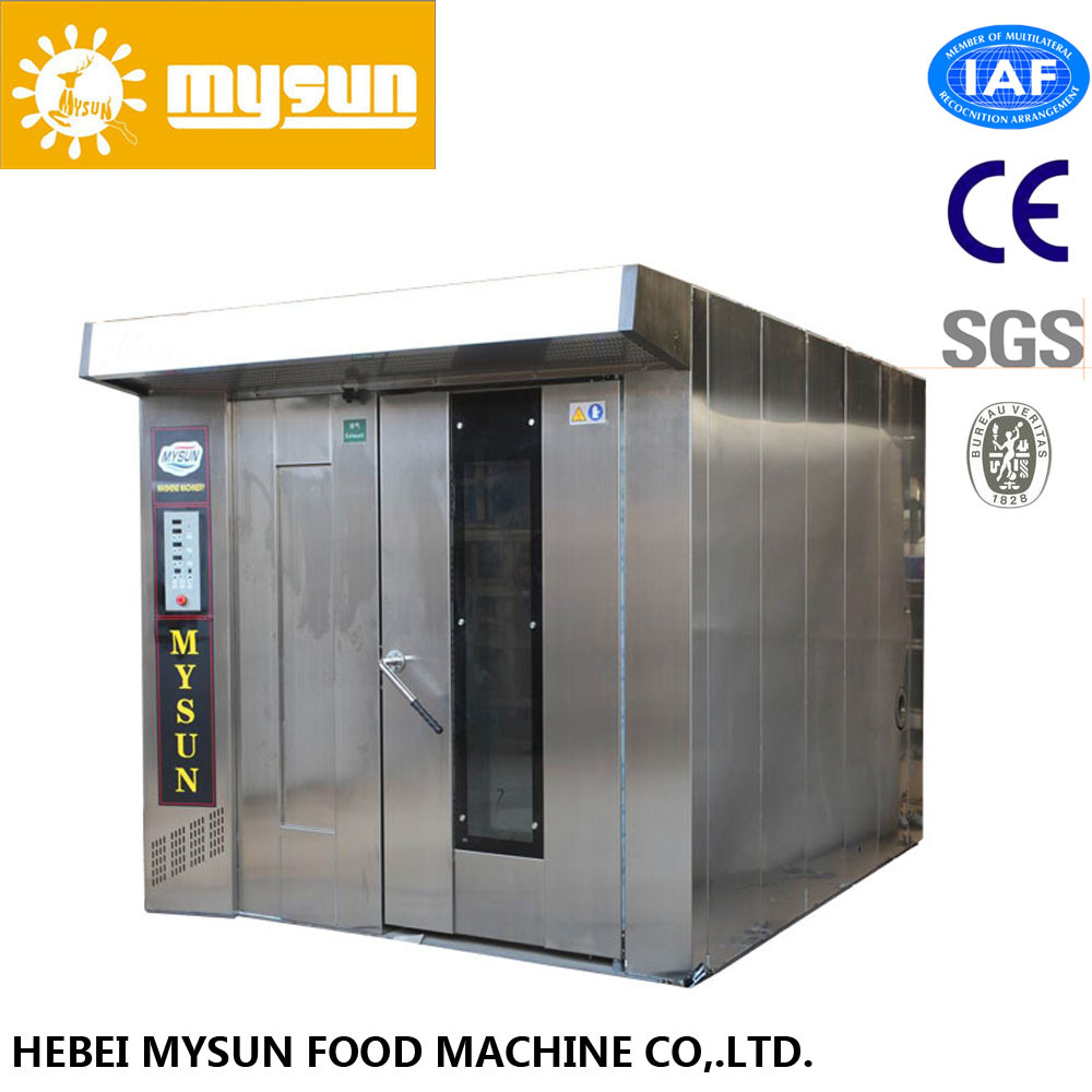 32/64trays 2 Racks Stainless Steel Humidification Bakery Rotary Oven with CE