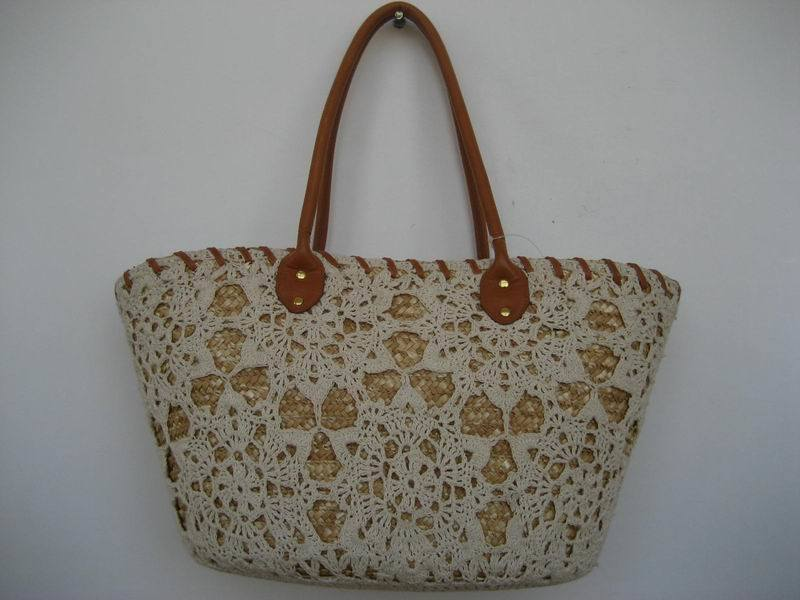 Handmade Basket Paper : China handmade paper straw basket bag