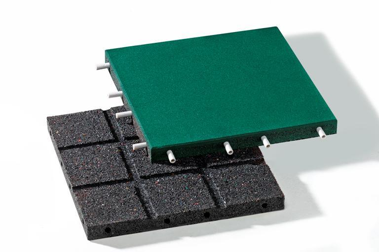 Rubber Floor Interlocking Tiles
