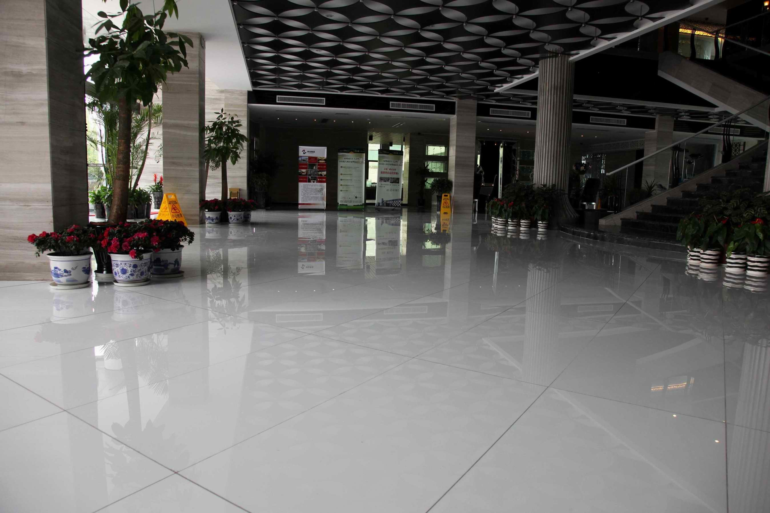 White Marble Floor : China white engineering stone for flooring photos