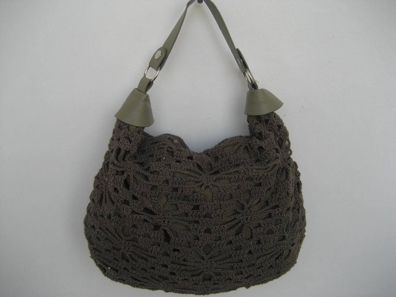 Crochet Handbags : China Cotton Crochet Bag - China Woven Tote Bag, Fashionable Handbag