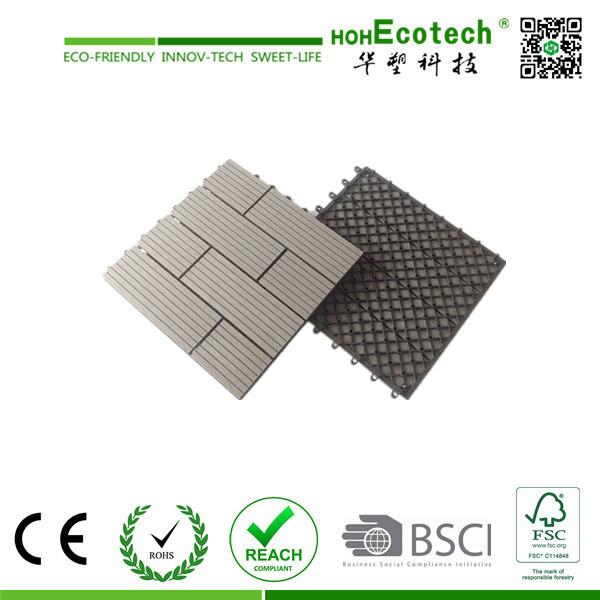 Nice Pattern Wood Plastic Composite Interlocking Tile/ WPC DIY Tile