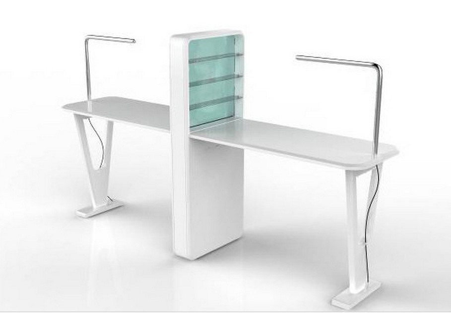 Strong Cheap Backing Finish Nail Table for Beauty Salon