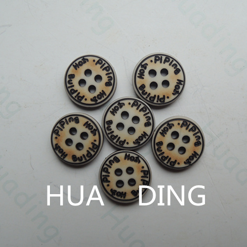 4-Hole Hot Sale Plastic Sewing Button for Garement (HD1015-15)
