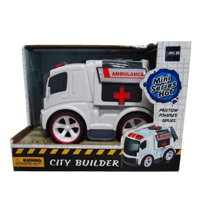 Hot Product Plastic Mini Frcition Ambulance Car Toy (10250381)