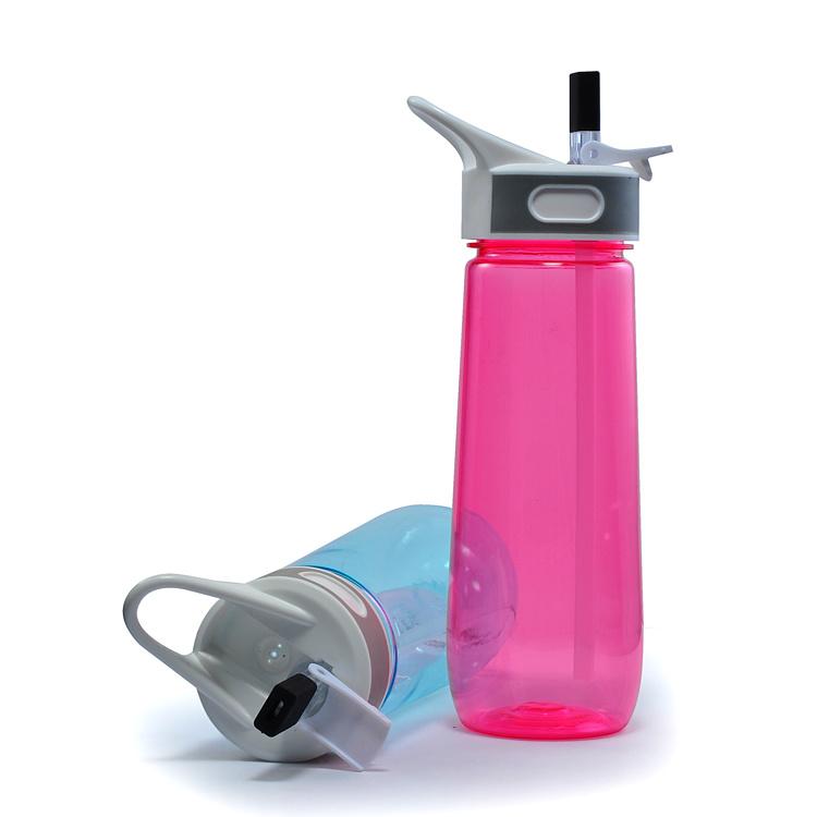 650ML Plastic Sports Bottle With Straw, Water Bottle Joyshaker With Straw