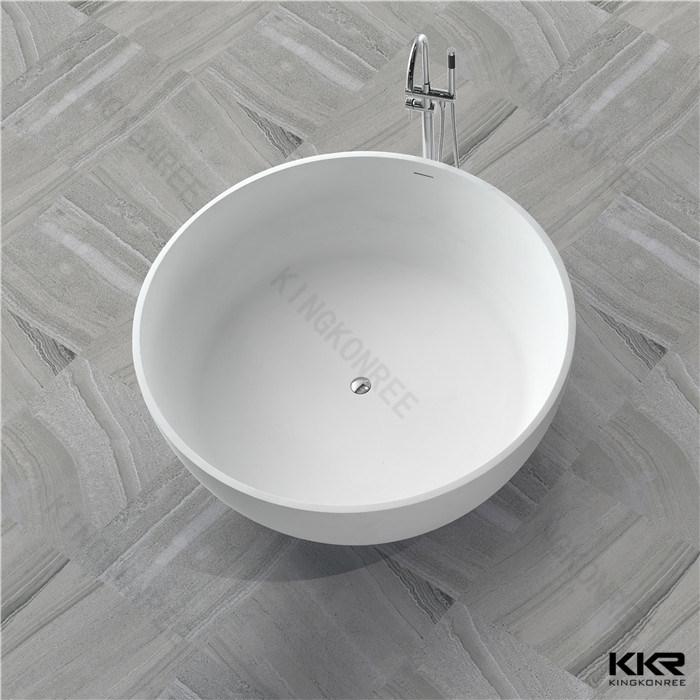 2017 New Design White Solid Surface Freestanding Bathtub (BT170803)