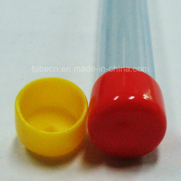 Clear Plastic Packaging Tube with Caps