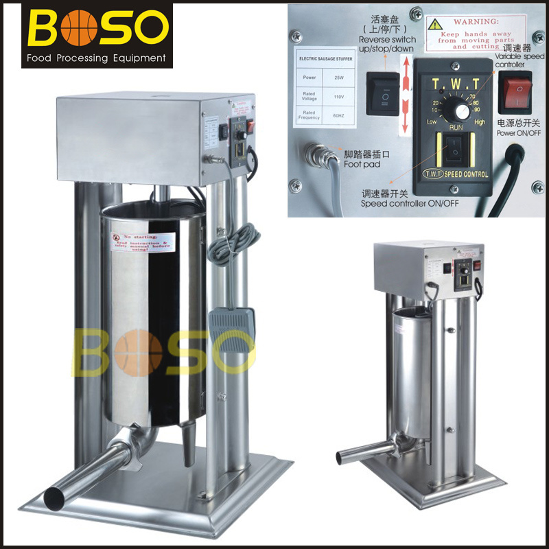 15L Stainless Steel Meat Electric Sausage Stuffer (BOS-SS15L)