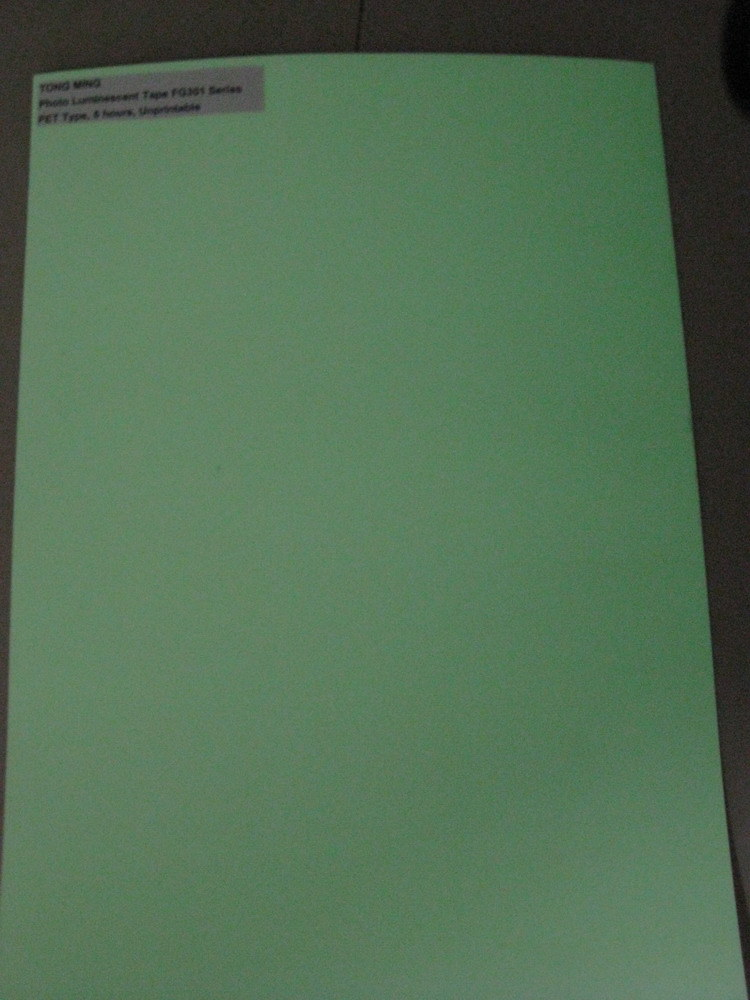 PET Night Glow Material (FG301)