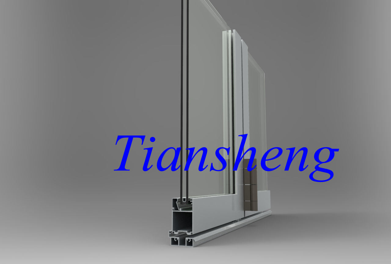 Swing Opening Aluminum Bi-Floding Door with Double Toughened Glass